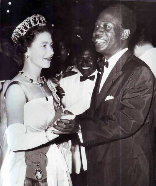 The Queen and her Music Today, Queen Elizabeth II, Ghana's former Head of State (from 6th March 1957 to 1st July 1960) becomes Britain's longest serving monarch!